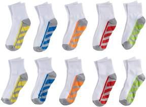 Tek Gear Boys 10-Pack Quarter-Crew Socks