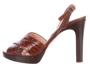 Michael Kors Embossed Slingback Sandals