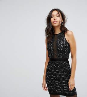 TFNC High Neck Mini Scallop Sequin Dress