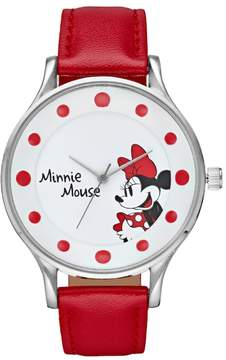 Disney Disney's Minnie Mouse Women's Red Dot Watch