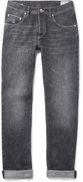 Brunello Cucinelli Washed Selvedge Denim Jeans