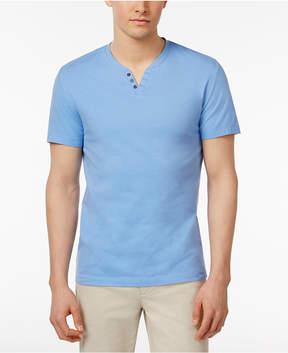 Alfani Men's Split-Neck Cotton T-Shirt, Created for Macy's