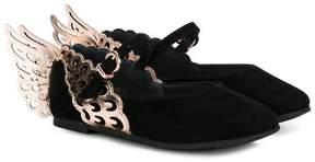 Sophia Webster Mini metallic wing ballerina shoes