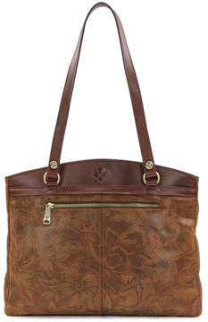 Patricia Nash Napa Etched Floral Collection Poppy Tote