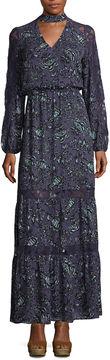 BELLE + SKY Lace Insert Maxi Dress