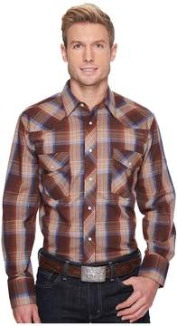 Roper 1210 Brown, Tan and Blue Plaid Men's Clothing