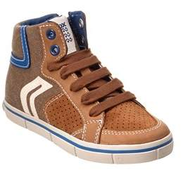Geox Boys' Junior Kiwi Leather Sneaker.