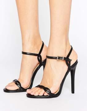 Public Desire Annabelle Twist Black Heeled Sandals