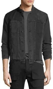 Hudson Men's Blaine Distressed Cropped Denim Jacket