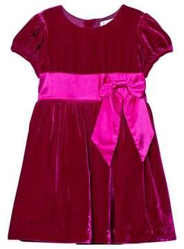 Rachel Riley Pink Velvet Bow Dress