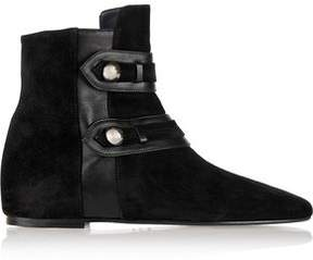 Etoile Isabel Marant Roddy Leather-Trimmed Suede Ankle Boots