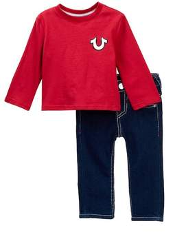 True Religion Long Sleeve Buddha Tee & Jeans Set (Baby Boys)
