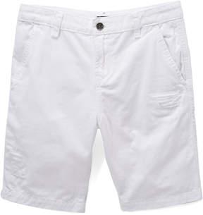 DKNY White Flat Front Shorts - Boys
