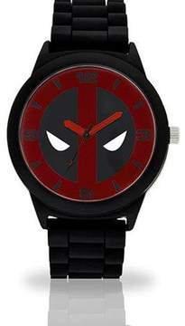 Marvel Deadpool Adult Watch with Black Rubber Strap