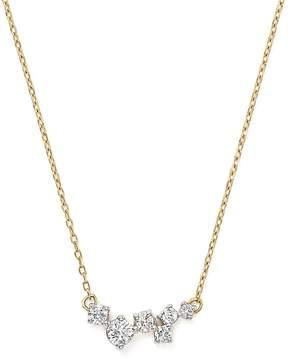 Adina 14K Yellow Gold Scattered Diamond Necklace, 15