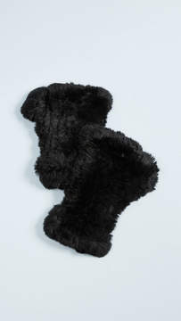 Adrienne Landau Rex Rabbit Fur Fingerless Gloves