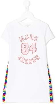Little Marc Jacobs sequinned sides T-shirt dress