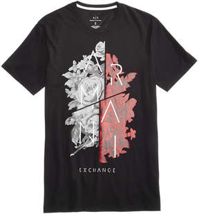 Armani Exchange Men's Split-Graphic T-Shirt, Created for Macy's