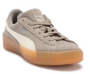 Puma Suede Platform Snake Embossed Sneaker (Little Kid)