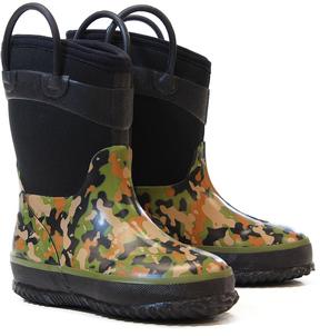 Western Chief Olive Wilderness Camo Neoprene Rain Boot - Boys