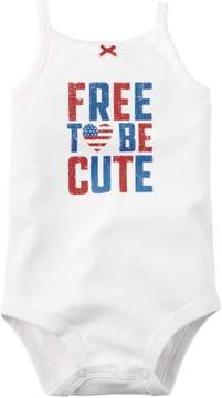 Carter's Baby Girls Free To Be Cute Bodysuit