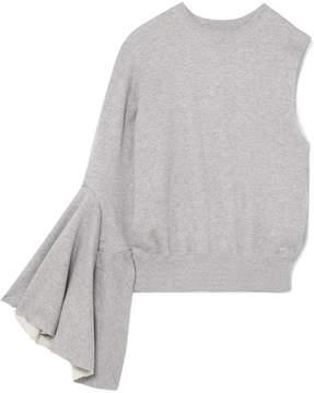 Facetasm One-shoulder Cotton-jersey Sweatshirt - Gray