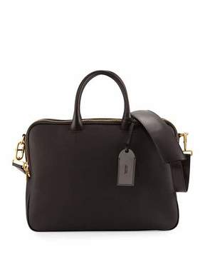 Tom Ford Leather Double-Zip Briefcase, Chocolate (Brown)