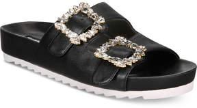 INC International Concepts I.n.c. Women's Alani Pool Slide Flat Sandals, Created for Macy's Women's Shoes
