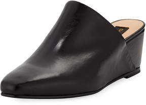 Donna Karan Mercer Smooth Leather Wedge Mule