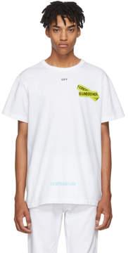 Off-White White Firetape T-Shirt