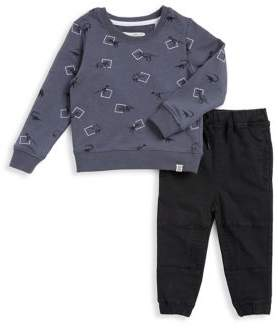 Sovereign Code Little Boy's Two-Piece Graphic Sweatshirt and Cotton Jogger Pants Set