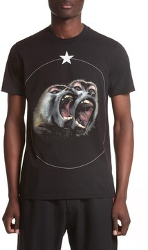Givenchy Men's Cuban Fit Monkey Brothers Graphic T-Shirt
