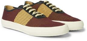 Dries Van Noten Leather-Trimmed Mesh Sneakers