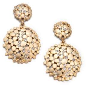 ABS by Allen Schwartz Pavé Double Drop Earrings