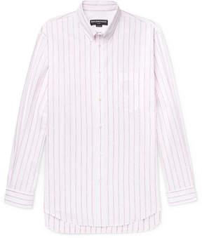Balenciaga Oversized Button-Down Collar Cotton-Jacquard Shirt