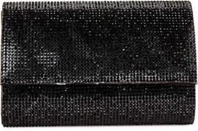La Regale Black Sparkle Jacquard Harper Roll Clutch