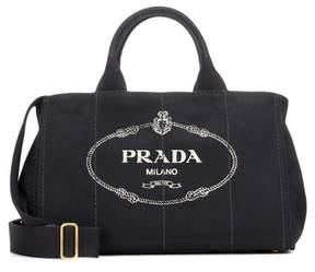 Prada Jardinera Large canvas shopper bag
