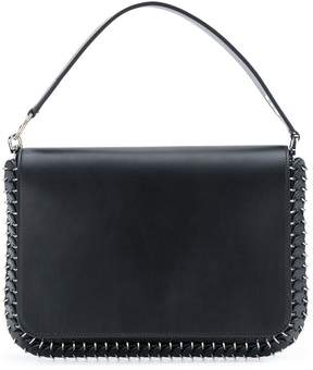 Paco Rabanne ring studded clutch bag
