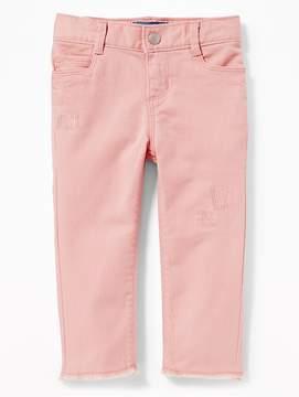 Old Navy Distressed Pop-Color Jeans for Toddler Girls