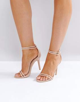 Glamorous Glamourous Double Strap Barely There Sandals