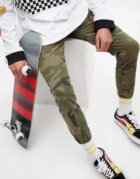 Pull&Bear Regular Fit Camo Print Cuffed Pants
