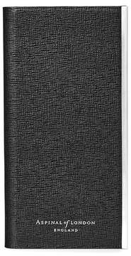 Aspinal of London Iphone 6 Leather Book Case In Black Saffiano Black Suede