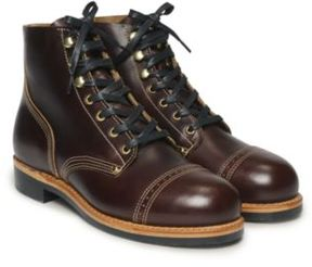 Ralph Lauren Wythe Leather Boot Brown 8