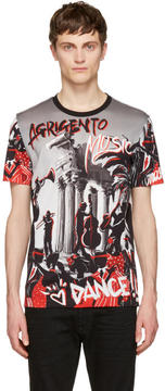 Dolce & Gabbana Black and Grey Agrigento T-Shirt