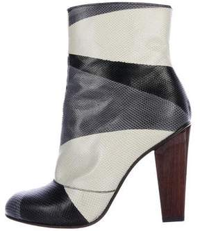 Dries Van Noten Karung Printed Ankle Boots