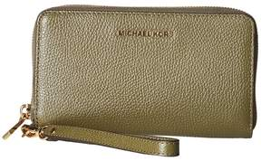 MICHAEL Michael Kors Mercer Large Flat Multifunction Phone Case Cell Phone Case - OLIVE - STYLE