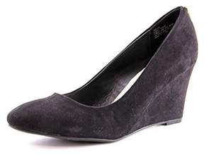Rampage Keaton Women Open Toe Synthetic Black Wedge Heel.