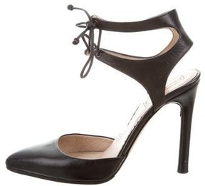 Reed Krakoff Leather Ankle Strap Pumps