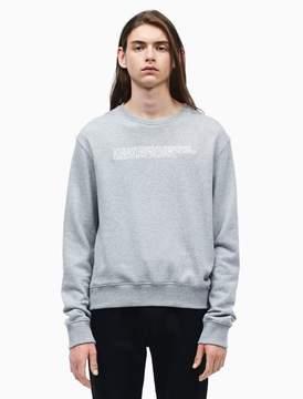 Calvin Klein embroidered french terry sweatshirt