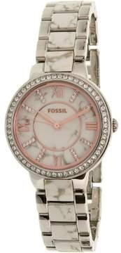 Fossil Women's Virginia ES3962 Silver Stainless-Steel Quartz Watch